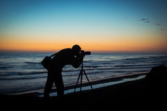 Free Silhouette Of A Photographer Stock Images - 67652324