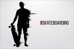 Free Silhouette Of A Skateboarder. Vector Illustration Stock Images - 123339274