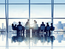 Free Silhouette Of Business Person In A Board Room Stock Images - 44048014