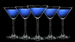 Free Silhouette Of Color Martini Glass On Black Royalty Free Stock Images - 89054699