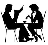 Silhouette Of Couple Stock Image