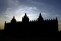 Silhouette Of Djenne S Mud Mosque Stock Photos