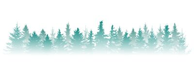 Free Silhouette Of Fog Forest, Panorama. Isolated Christmas Tree Fir In Misty Forest On White Background. Vector Illustration Royalty Free Stock Images - 188351059
