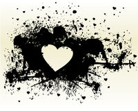 Silhouette Of Heart Stock Image