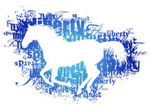 Silhouette Of Horse With Words Royalty Free Stock Images