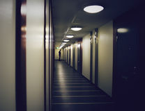 Silhouette Of Man In A Dark Hallway. Royalty Free Stock Photography