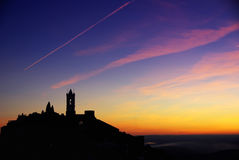 Free Silhouette Of Monsaraz Village. Royalty Free Stock Photography - 23309147