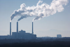 Free Silhouette Of Power Plant Stock Image - 10942401