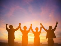 Free Silhouette Of Success Business Team Concept Stock Photo - 123020660