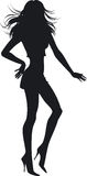 Silhouette Of The Girl Stock Photography