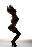 Silhouette Of Young Girl Royalty Free Stock Photography