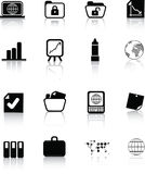 Silhouette office icon Royalty Free Stock Images
