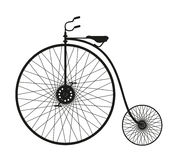 Silhouette of an old bicycle Royalty Free Stock Photography