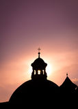 Silhouette of old church Royalty Free Stock Photography