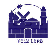 Silhouette of the Old City of Jerusalem Royalty Free Stock Image