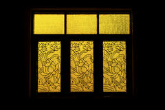 Silhouette of old glass window. In building Stock Photography
