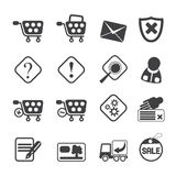 Silhouette Online Shop Icons Royalty Free Stock Images