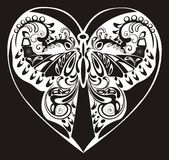 Silhouette ornamental butterfly Royalty Free Stock Photography