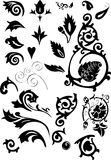 Silhouette of ornamental elements Royalty Free Stock Images