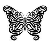 Silhouette ornementale de papillon Images libres de droits