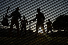 Silhouette. Outdoor shot of people silhouette Royalty Free Stock Photography