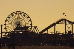 Silhouette Pacifique de parc au coucher du soleil Photos libres de droits