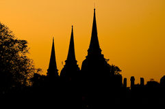 Silhouette pagoda Royalty Free Stock Photography