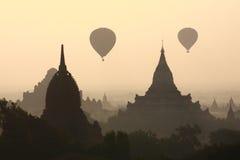 Silhouette Pagoda Stock Photos