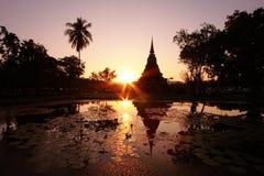 Silhouette pagoda Royalty Free Stock Photos