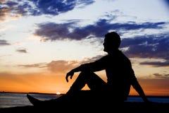 silhouette paisible image libre de droits