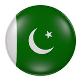 Silhouette of Pakistan button Stock Photography