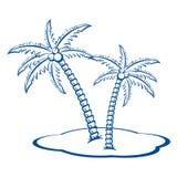 Silhouette Palm trees Stock Photos