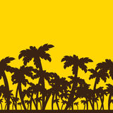 Silhouette of palm trees Royalty Free Stock Photos