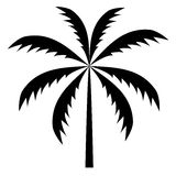 Silhouette of palm trees. Vector illustration. Royalty Free Stock Images