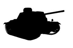 Silhouette panzer Royalty Free Stock Photos