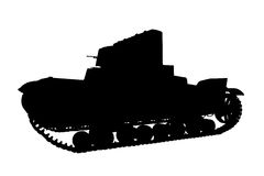 Silhouette panzer Royalty Free Stock Images