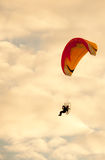 Silhouette of para motor glider Stock Image