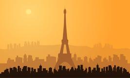 Silhouette of paris city Stock Image