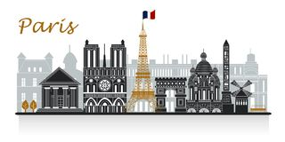 Silhouette of paris Royalty Free Stock Photos