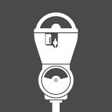 Silhouette of parking meter Stock Image