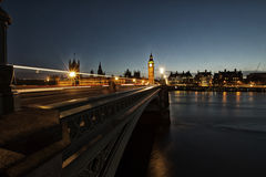 Silhouette of Parliament with Big Ben at sunset Stock Photos