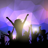 Silhouette of a party crowd Royalty Free Stock Photos