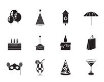 Silhouette Party and holidays icons Royalty Free Stock Images
