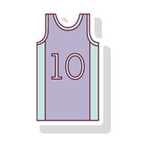 Silhouette pastel color of basketball t-shirt number ten Royalty Free Stock Photos