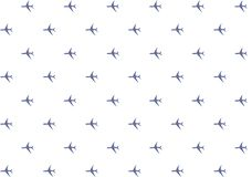 Silhouette pattern airplane dark blue on white background endless series repetition of icons base design royalty free illustration