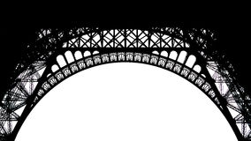 Silhouette Pattern of  Eiffel Tower Royalty Free Stock Images