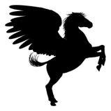 Silhouette Pegasus on Two Legs Royalty Free Stock Image
