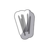 Silhouette pencils color icon. Illustraction design image Royalty Free Stock Photos