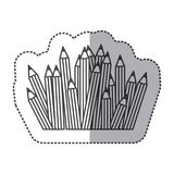 Silhouette pencils color icon. Illustraction design image Stock Photos