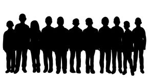 Silhouette peopl. Silhouette of a crowd of people, collection Stock Photo